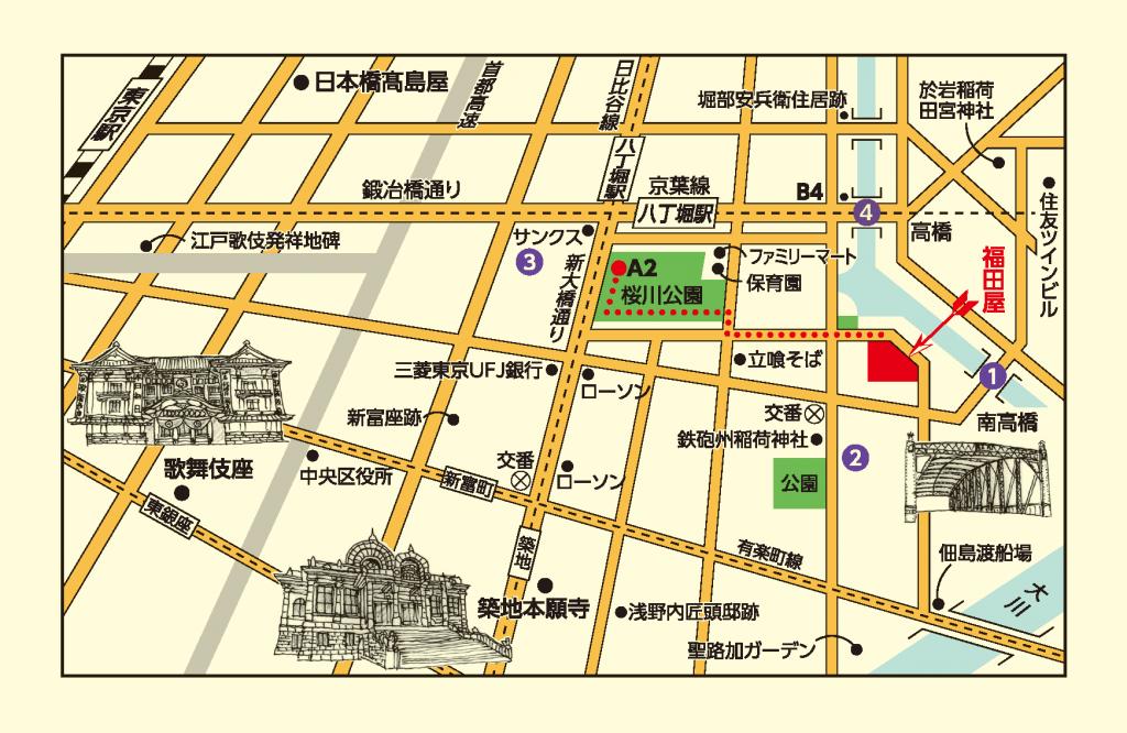きもの福田屋アクセスマップ